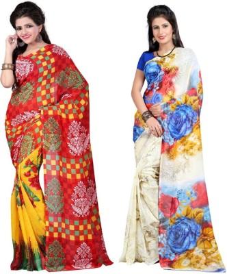Sukuma Printed Fashion Georgette Sari