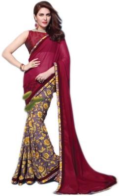 VK Trendz Printed Fashion Georgette Sari