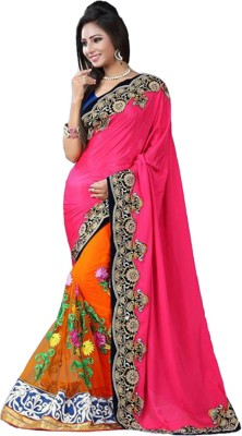 Zeel Fashion Embriodered Fashion Net Sari