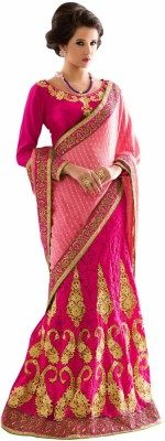 Aasvaa Self Design Lehenga Saree Jacquard Sari