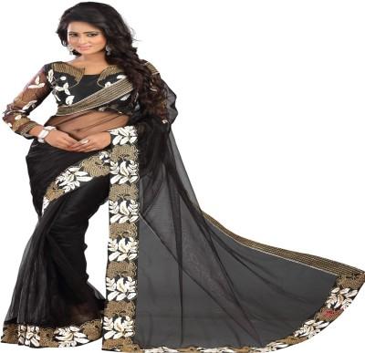Newlook impex Embriodered Fashion Georgette Sari