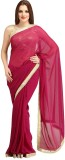Purple Oyster Solid Bollywood Georgette ...