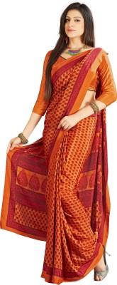 Urban Vastra Floral Print Fashion Crepe Sari