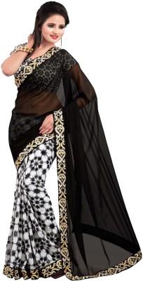 Apka Apna Fashion Embriodered, Plain Bollywood Georgette Sari