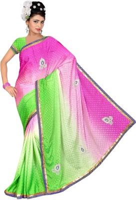Swami Syntex Embellished Daily Wear Chiffon Sari