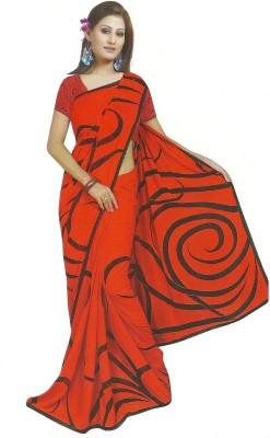 TrulyDesi Printed Fashion Georgette Sari