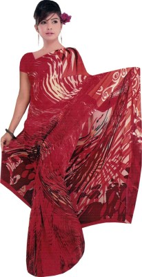 Radhika Sarees Printed Fashion Georgette Sari