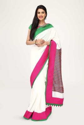 Sujatra Solid Fashion Chanderi Sari