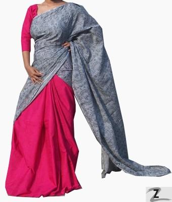 ZORIA Self Design Fashion Cotton Sari