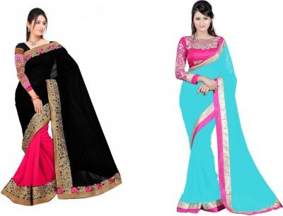 Krishna Creation Embriodered Bollywood Handloom Chiffon, Chiffon Sari