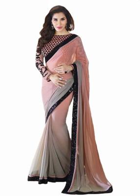Metroz Embriodered Fashion Georgette Sari