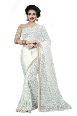 RIDDHIsiddhi Self Design Fashion Brasso, Net Sari