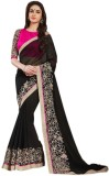 Vishal99 Solid Bollywood Chiffon Sari