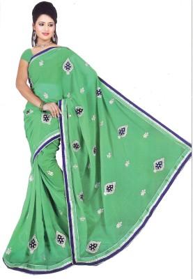 Aburadha Saree Embriodered Fashion Handloom Synthetic, Chiffon Sari