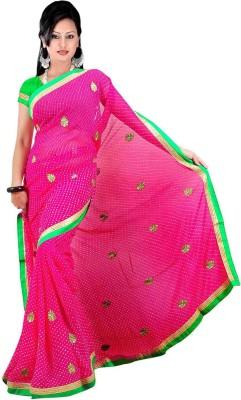 Chhaya Printed Bandhej Synthetic Fabric Sari