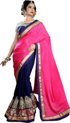 Heaven Deal Plain Fashion Georgette Sari
