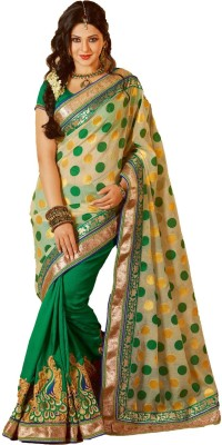 Thanvi Fashion Embriodered Bollywood Silk Sari