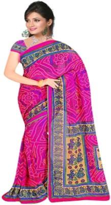 Jay Ambe Floral Print Fashion Chiffon Sari