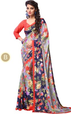 Craze N Demand Printed Fashion Crepe Sari