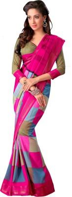 Kjs Harringbone Bollywood Art Silk Sari