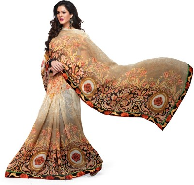 Ridham Sarees Printed Daily Wear Handloom Georgette Sari