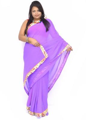 Gulmohaar Graphic Print Bollywood Georgette Sari