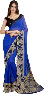 Velli Printed Fashion Georgette Sari