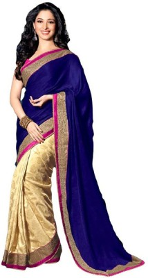GStuffFashion Plain Fashion Georgette Sari