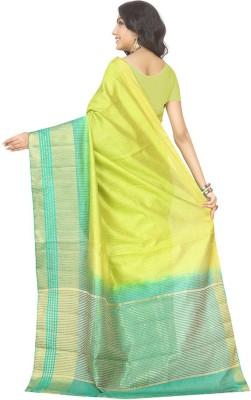 Rani Saahiba Woven Fashion Art Silk Sari(Mustard)