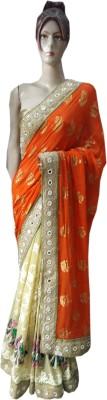 M.S.Center Embriodered Fashion Viscose Sari