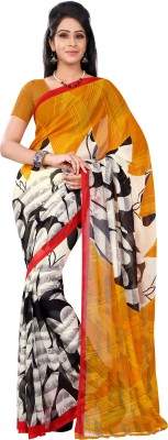 Today Deal Printed Fashion Synthetic Georgette Sari