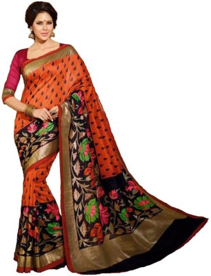 Nk International Printed Bhagalpuri Art Silk Sari