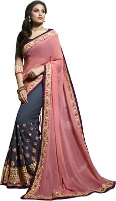Vardan Prints Embriodered Fashion Pure Georgette Sari