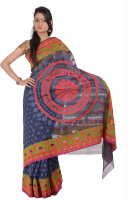 Banarasi Fashions Woven Banarasi Banarasi Silk, Jute Sari