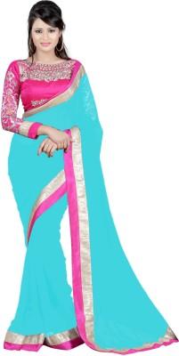 Krishna Creation Solid Bollywood Handloom Chiffon Sari