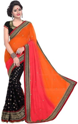 GStuffFashion Embriodered Fashion Georgette Sari