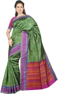 Kuberan Printed Daily Wear Handloom Raw Silk Sari