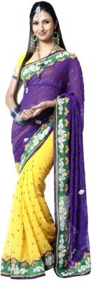 MatindraEnterprise Embriodered Fashion Handloom Chiffon Sari