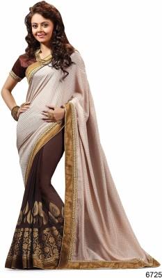 Ridham Sarees Embriodered Fashion Brasso Fabric Sari