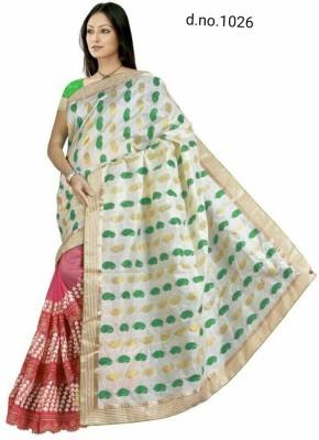 Radhe Fashion Embriodered Fashion Handloom Net, Jacquard Sari