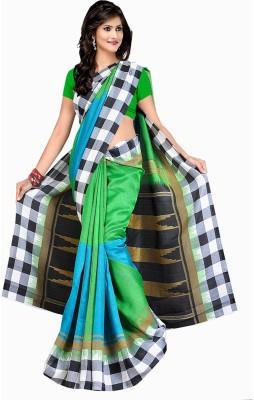 Shyam Creations Checkered Bollywood Banarasi Silk Sari