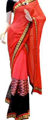 MAMTA BOUTIQUE Printed, Plain Bollywood Viscose Sari