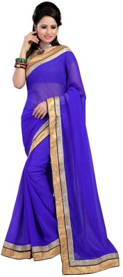 Fabulous Self Design Fashion Chiffon Sari