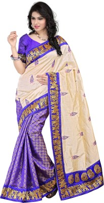 Kajal Syntex Embriodered Kanjivaram Tussar Silk Sari