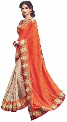 Royal Desi Apparel Embriodered Bollywood Satin Sari