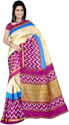 Pawan Tex Printed Bhagalpuri Synthetic Sari