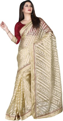 Vishal Prints Self Design Bollywood Brasso Sari