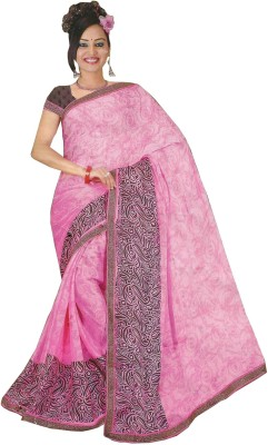 Swaman Printed Fashion Crepe Sari