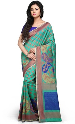 SSPK Applique Banarasi Cotton Sari
