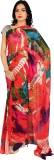 Rama Printed Fashion Georgette Saree (Or...